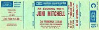 VINTAGE JONI MITCHELL 1983 REFUGE TOUR UNUSED MSG CONCERT TICKET-NM TO MINT-C16