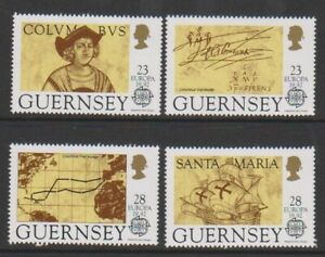 Guernsey - 1992, Discovery Of America Von Columbus Set - MNH - Sg 556/9