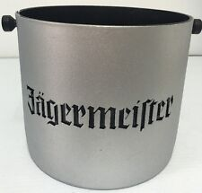 Jagermeifter Jagermeister Silver Laser Cut In Black Acrylic ICE BUCKET Rare Bar