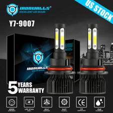 4-sides 9007 LED Headlight Hi/Lo Bulbs for Ford F-150 1992-2003 F-250 1992-1999