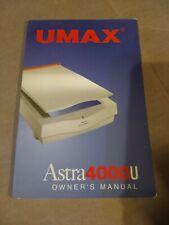 Umax Astra 4000U  Flatbed Scanner  manual
