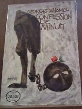 Georges Duhamel: Confession de Minuit/ J'ai lu, 1957