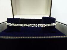 """New Solid Sterling Silver.925 Byzantine Bracelet 7 1/2"""""""