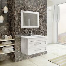 Mobile arredo bagno 80 100 cm decapè color grigio e ardesia specchio e lavabo |c