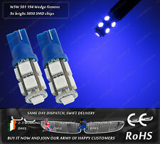 W5W T10 Wedge LED SMD Xenon Blue Car Front Side Lights Parking Bulbs Sidelights