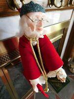 NIB Dept 56 Christmas Carol Stocking Doll  Heritage Village #5908 Scrooge