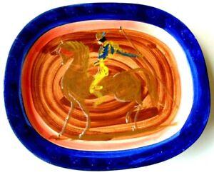 """Picasso ceramic, Stamped Edition Paco Padilla """"Citando con Alegria"""" 1997"""