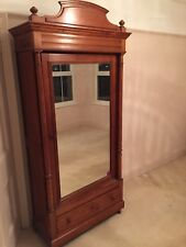 Antique French Pitch Pine  Armoire Wardrobe