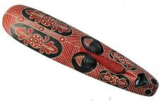 Wall Mask Red 50cm Flower African Style Wooden Mask