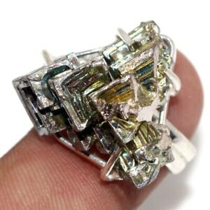 Bismuth Crystal 925 Silver Plated Gemstone Handmade Ring us 7.5 Gift Jewelry GW