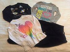 3 Children's Place Long Sleeve Tops (1 Halloween Cat) & Fleece Pants-Sz 7/8