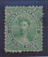 Canada Stamp Scott #18, Used, Light Cancel