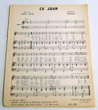 Partition vintage sheet music ROMUALD  : Ce Jour * 60's