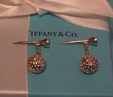 Tiffany & Co Sterling 925 Silver Golf Ball & Tee Cuff Links