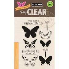 HERO ARTS Clear Stamp Set COLOR LAYERING BUTTERFLIES CL867