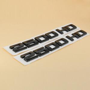 2x Black 2500HD Nameplates EMBLEM Badges for Chevrolet Silverado GMC Sierra Door