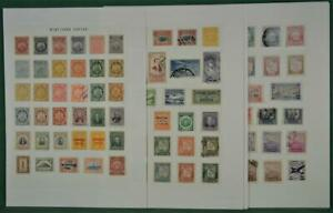 BOLIVIA STAMPS GOOD SELECTION ON 10 PAGES  (K91)