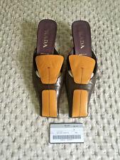 Prada Slip On Shoes Sandals Flats Heels 38 5 Mules