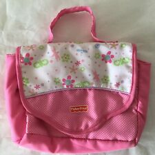 Fisher Price Baby Doll Pink Diaper Bag 2010  Tote Changing Pad Doll 2010