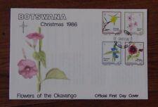 Botswana 1986 Christmas Flowers of Okavango set on First Day Cover