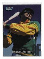 2018 Topps stadium club chrome parallel Reggie Jackson SCC-256 Oakland Athletics