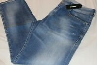 Diesel Mens Thommer Blue Slim Skinny Cotton Stretch Denim Jeans NWT $198 Size 36