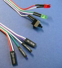 Taster Power ON OFF Switch Reset Kabel mit LED Schalter ATX Mainboard PC Gehäuse