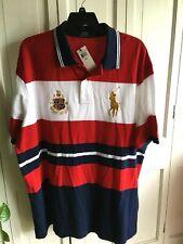 NWT $125 Polo Ralph Lauren Big Pony Crest Logo Big & Tall Polo Shirt Size 3XLT