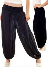 Sexy Miss Ladies Stylish Pump Harems Aladin Sarouel Pants 34/36/38 Black
