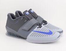 9aaeb079c00 Nike Romaleos 3 Weightlifting Crossfit Trainer Shoes Grey Blue 852933-001  SZ 15
