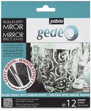 Pebeo Gedeo GOLD LEAF gilding FOIL finitura a specchio 12 fogli di colore in argento