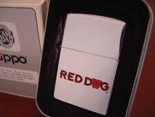RED DOG BEER HIGH POLISH CHROME ZIPPO LIGHTER MINT IN BOX
