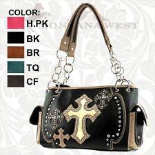Montana West Leather Spiritual Style Multi Cross Shoulder Bag Purse FB-8085
