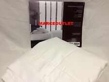 HUDSON PARK 500 Thread Count Iron Free KING Flat Sheet White