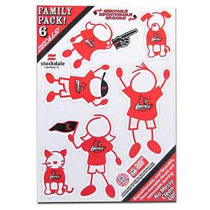Louisville Cardinals Family Decal Sticker Set