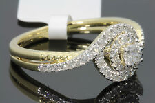 10K YELLOW GOLD .55 CARAT WOMEN REAL DIAMOND ENGAGEMENT RING WEDDING RING BRIDAL