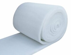 """1m/40"""" Inch Wide 16oz Fire Retardant Polyester Wadding Roll Quilting Upholstery"""