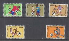 NETHERLANDS ANTILLES, 1985 Football set of 5, mnh.