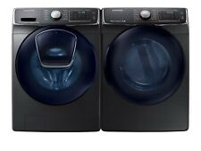 Samsung Wf50K7500Av, Dv50K7500Gv Side-by-Side Washer&Gas Dryer Set Black