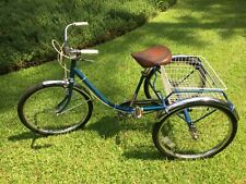 3 wheel bicycle, Made by Gobby Mfg., blue, 24 inch, excellent, 3 speed