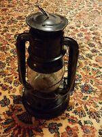 000 Vintage Black Kerosene Lantern Unmarked Railroad Miner
