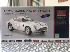 Aston Martin DB4 GT Zaganto Le Mans 1961, Start-Nr. 1 White 1:18 Model Car CMC