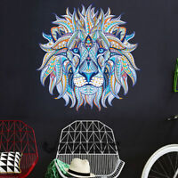 Blue Lion Head Wall Art Stickers Kids Nursery Decor Removable Vinyl Decal Gift
