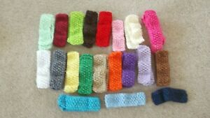 BUNDLE OF MIXED COLOURS ~ STRETCH GIRLS HEADBANDS