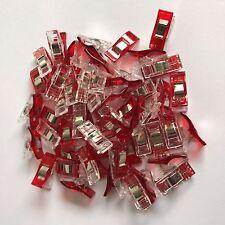 100 Stoffklammern Nähklammern Nähclips Wonderclip Wonder-Stoff-Clip  #3378