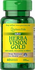 HerbaVision Gold ,Lutein ,Bilberry with Zeaxanthin 4 mg x 60 Softgels