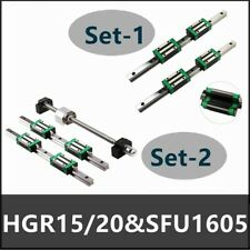 Linear Guide Rail Hgr20 2pcs L200mm1700mm Amp 1pcs Sfu1605 Ballscrew Set Cnc Us