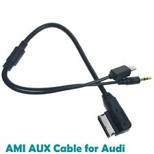 AMI MMI 3.5mm AUX Jack iPhone iPod Adapter Cable For Audi A3 A4 A5 A6 A8 Q5 Q7