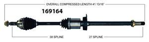 New CV Shaft 169164 Worldparts CV Axles