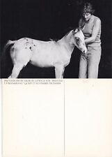 WOMAN & HORSE PHOTOGRAPH UNUSED ADVERTISING POSTCARD